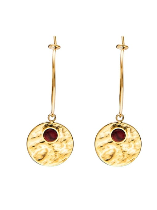 Red Fashion natural stone earrings