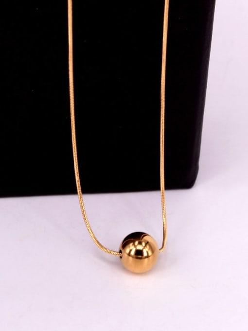 K.Love Titanium Steel Round Bead  Minimalist Necklace 4