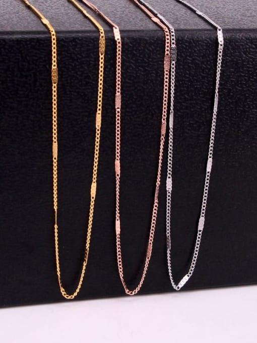 K.Love Titanium Steel Geometric Minimalist Cable Chain 0