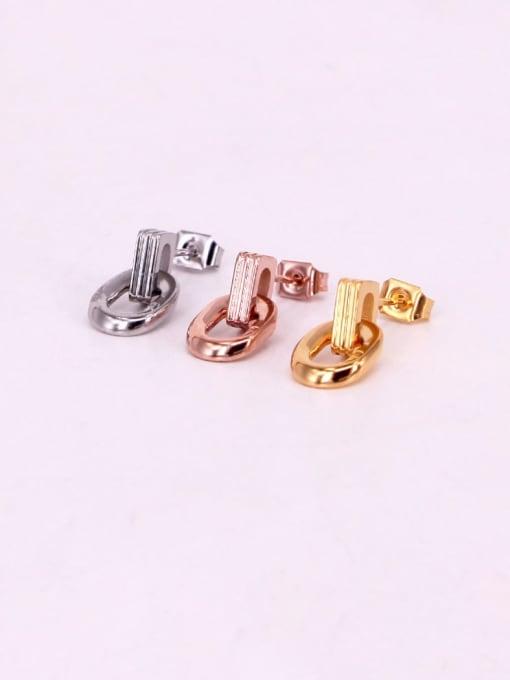 K.Love Titanium Steel Geometric Minimalist Stud Earring 3