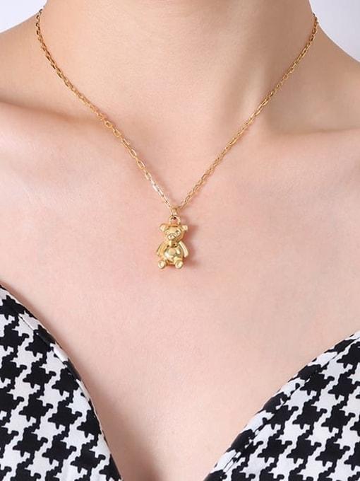 MAKA Titanium Steel Geometric Minimalist Necklace 2