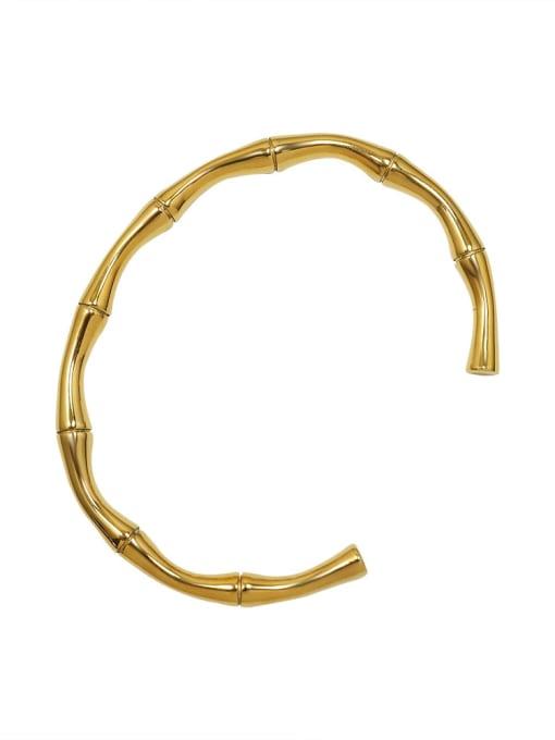 Z221 gold open Bracelet Titanium Steel Irregular Hip Hop Cuff Bangle