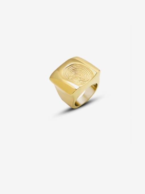 MAKA Titanium Steel Irregular Artisan Band Ring 0
