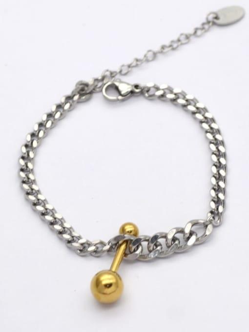 YAYACH Titanium Steel Geometric Hip Hop Link Bracelet