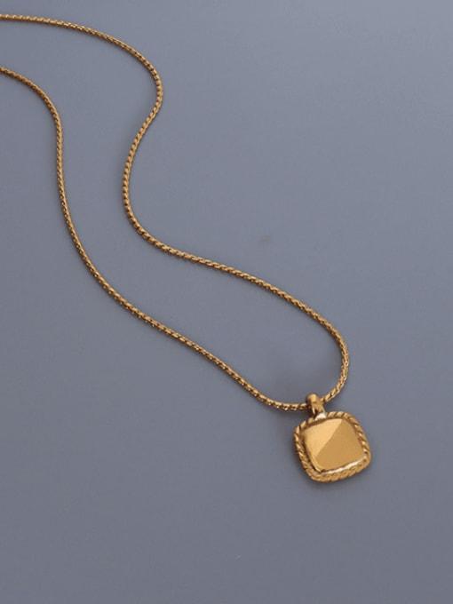 MAKA Titanium Steel Square Minimalist Necklace 0
