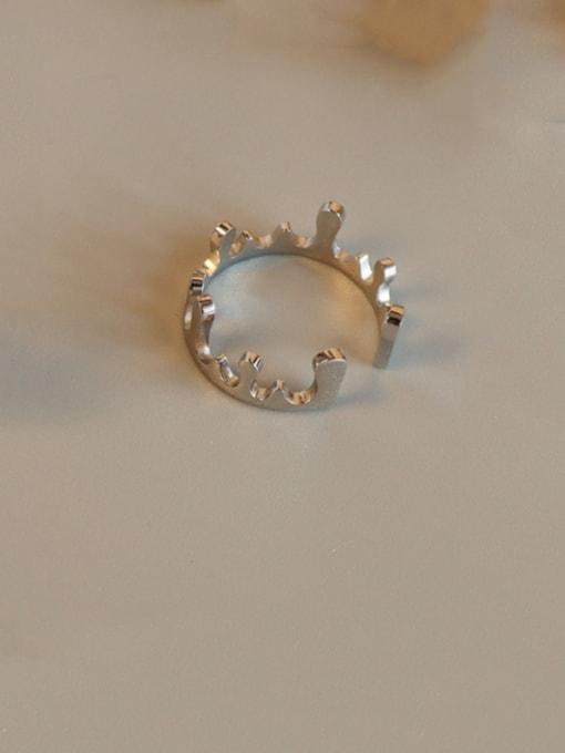 steel Titanium Steel Smooth Crown Cute Band Ring