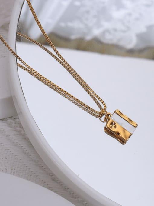 MAKA Titanium Steel Shell Geometric Hip Hop Necklace 2