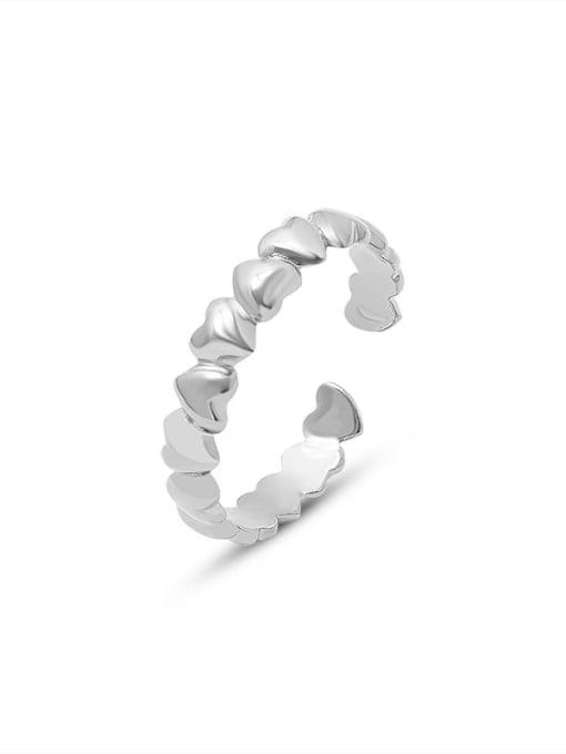 Steel color Titanium Steel Heart Minimalist Band Ring