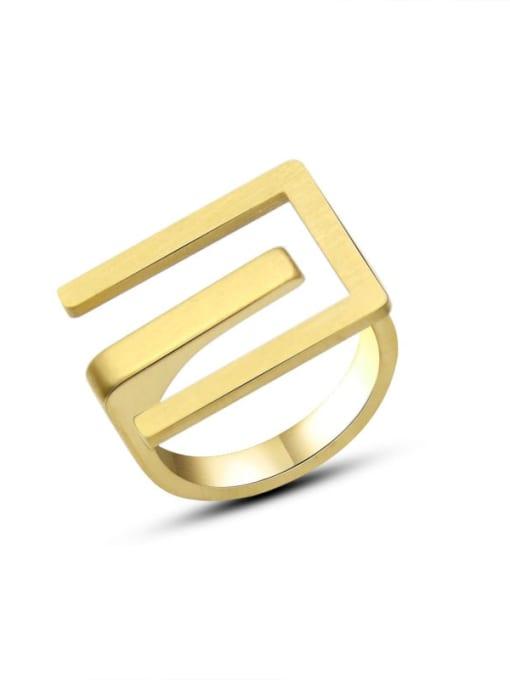 MAKA Titanium Steel Geometric Vintage Band Ring 3