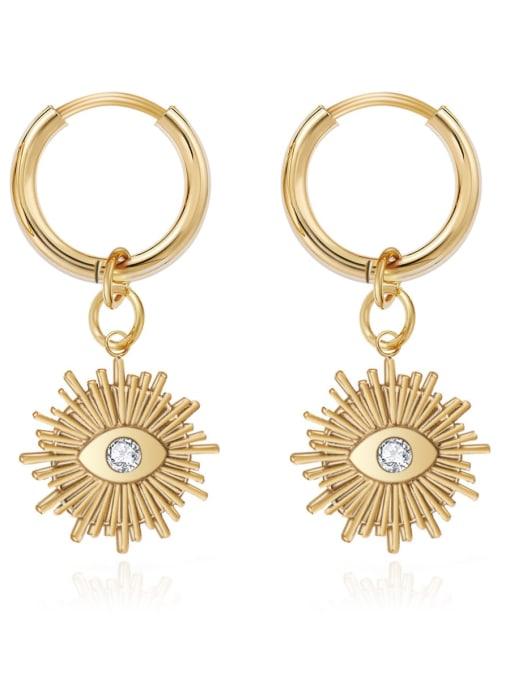 YAYACH Vintage Design Eye stainless steel earrings