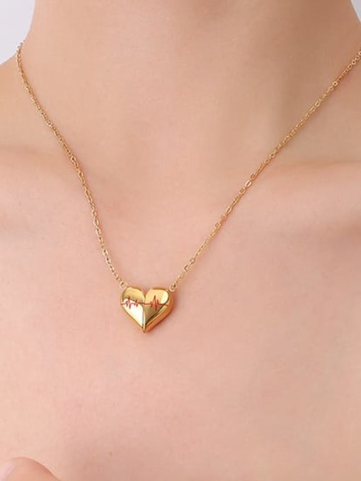 P024 gold necklace 40 +5cm Titanium Steel Geometric Minimalist Necklace