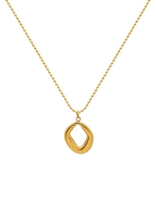 MAKA Titanium Steel Bead Chain  Vintage Irregular Pendant Necklace 0