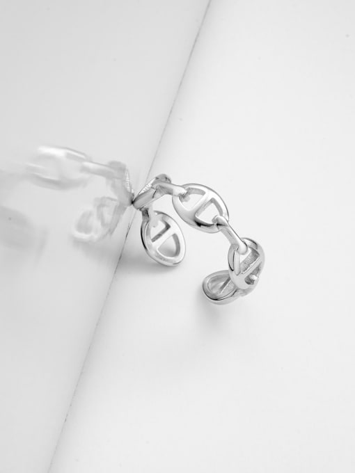 YAYACH Hollow Japanese-shaped stainless steel ring 1