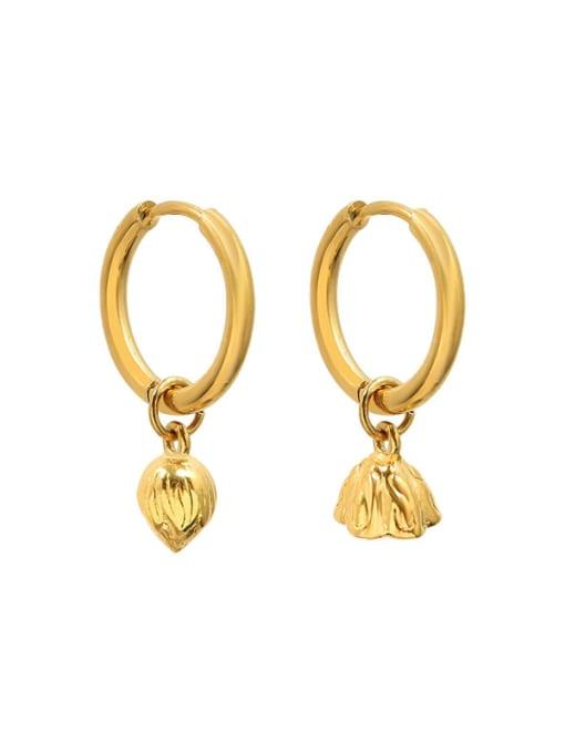MAKA Titanium Steel Vintage Flower  Bangle Earring and Necklace Set 4