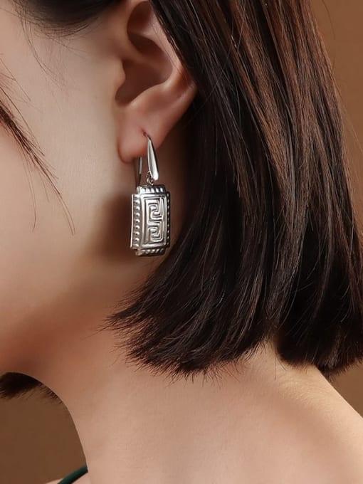 Steel Earrings Titanium Steel Geometric Vintage Hook Earring