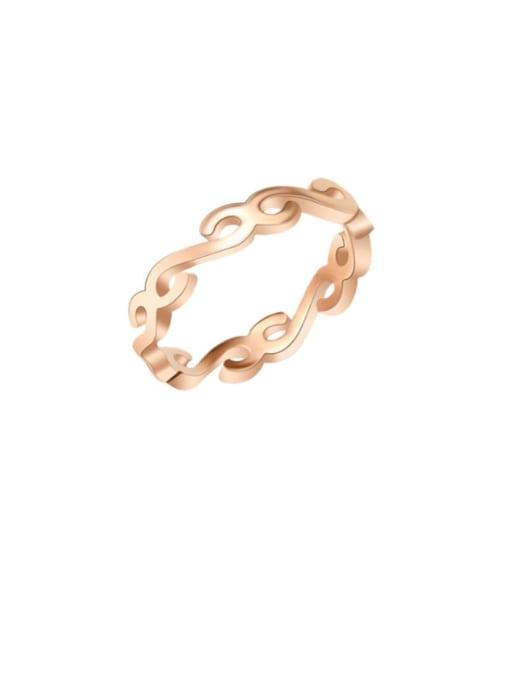 MAKA Titanium Steel Letter Minimalist Band Ring 0