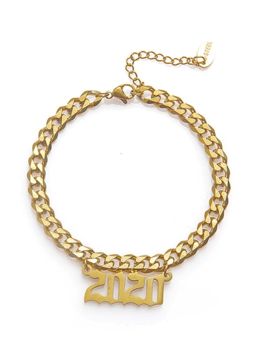 YAYACH Stainless steel Number Trend Link Bracelet 0