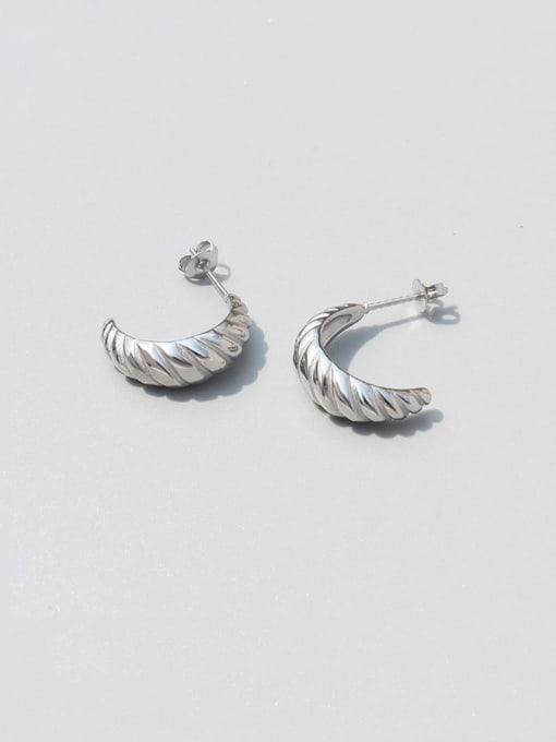 Steel Titanium Steel Irregular Vintage Stud Earring