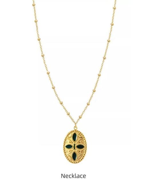 YAYACH Cross Pendant Gold Retro All-match Thin Titanium Steel Necklace 0