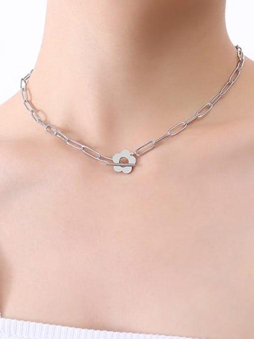 P547 Steel Necklace 38cm Titanium Steel Geometric Hip Hop Necklace