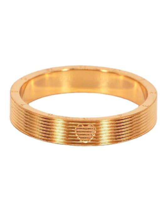 K.Love Titanium Steel Number Minimalist Band Ring 0
