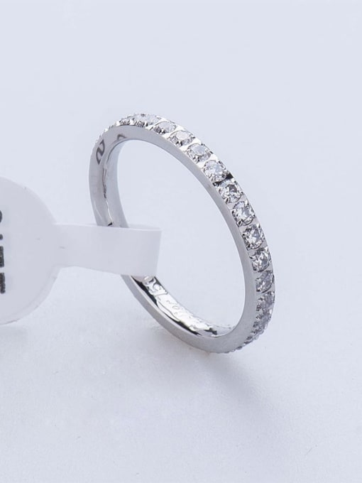 K.Love Titanium Steel Cubic Zirconia Round Minimalist Band Ring 2