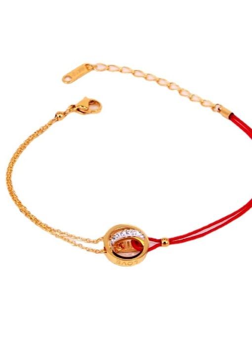 K.Love Titanium Steel Rosary Minimalist Woven Bracelet 1