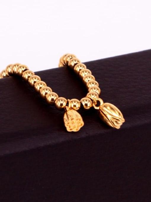 K.Love Titanium Steel Ball Hip Hop Beaded Bracelet 1