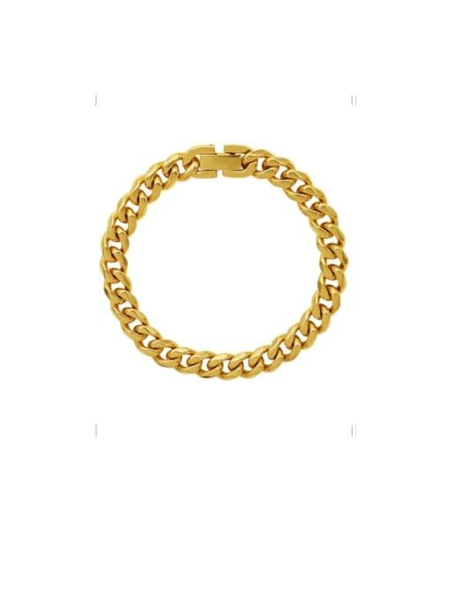 MAKA Titanium Steel Geometric Chain Vintage Link Bracelet 2