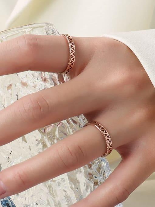 MAKA Titanium Steel Hollow Heart Minimalist Band Ring 2
