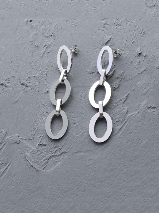 Steel Titanium Steel Hollow Geometric Minimalist Drop Earring