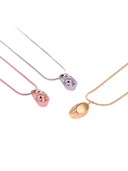 K.Love Titanium Steel Geometric Minimalist Necklace 4
