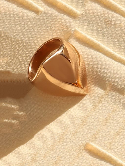 Rose gold Titanium Steel Irregular Artisan Band Ring