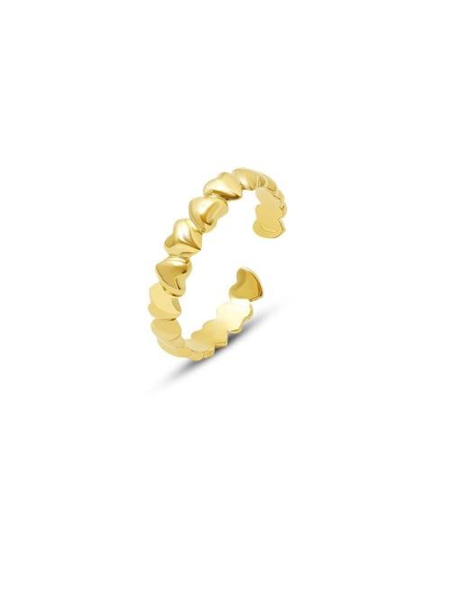 MAKA Titanium Steel Heart Minimalist Band Ring 0