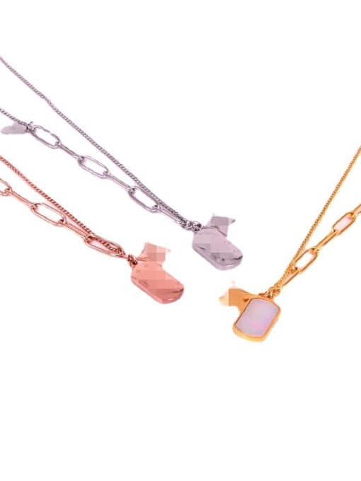K.Love Titanium Steel Shell Geometric Vintage Necklace 3