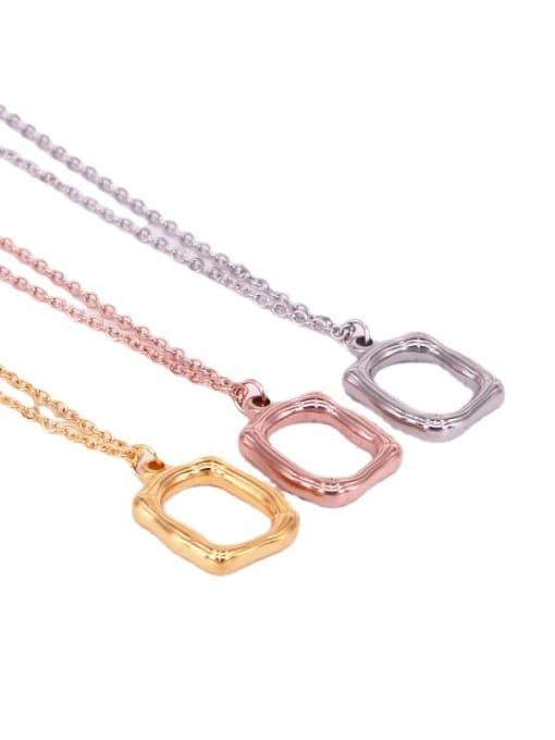 K.Love Titanium Steel Hollow Geometric Vintage  Pendant Necklace 2