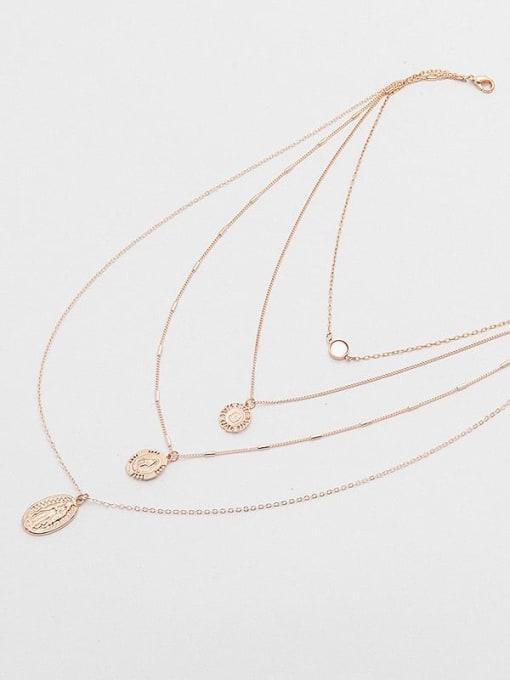 YAYACH Shuibo chain bone chain women's Fritillaria multilayer alloy necklace