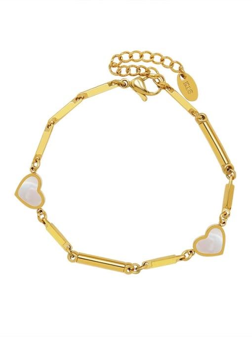 MAKA Titanium Steel Shell Heart Vintage Bracelet 0