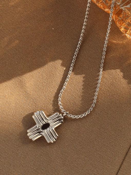 MAKA Titanium Steel Cross Vintage Regligious Necklace 2