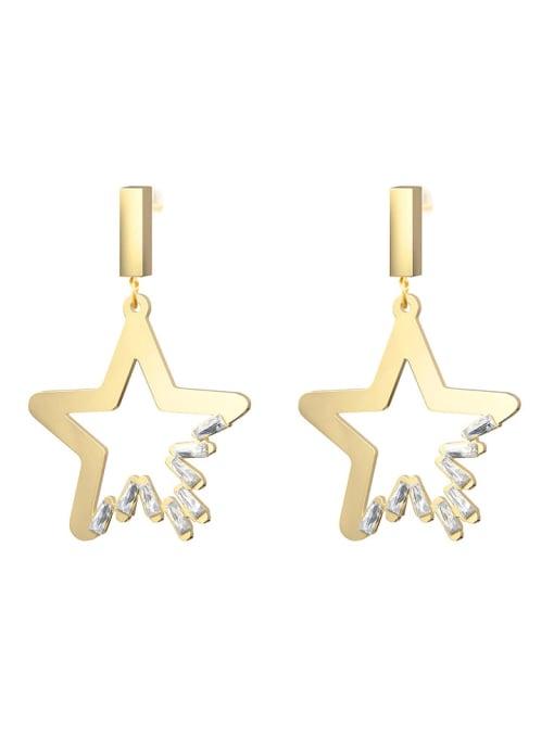 YAYACH Crystal diamond earrings French titanium steel earrings