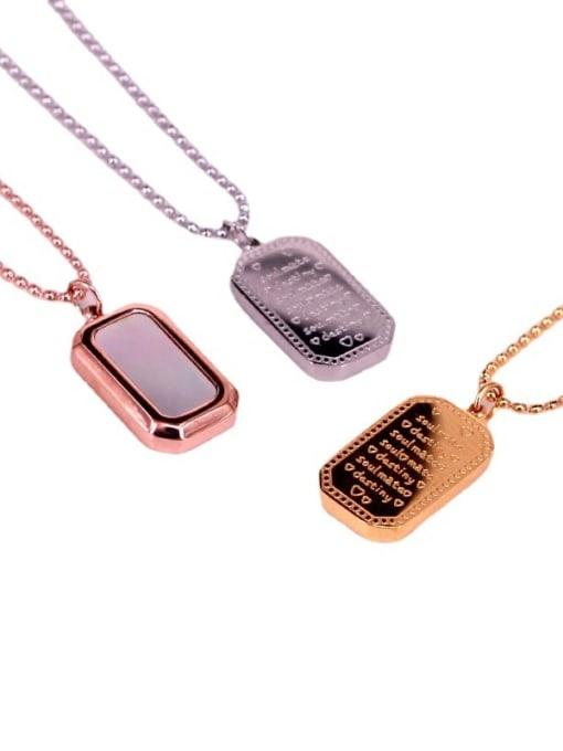 K.Love Titanium Steel Shell Geometric Hip Hop Necklace 0