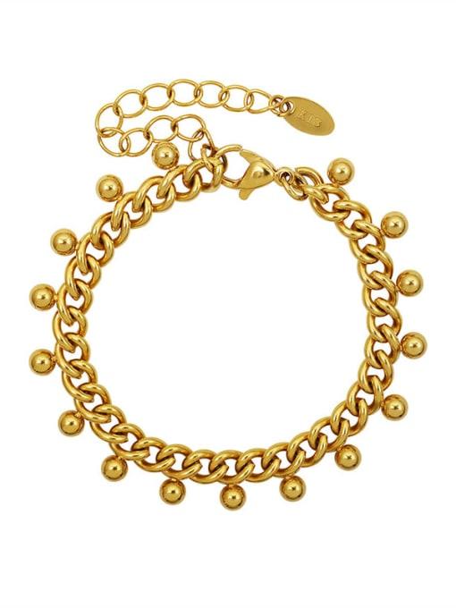 MAKA Titanium Steel Round Bead  Vintage Beaded Bracelet 0