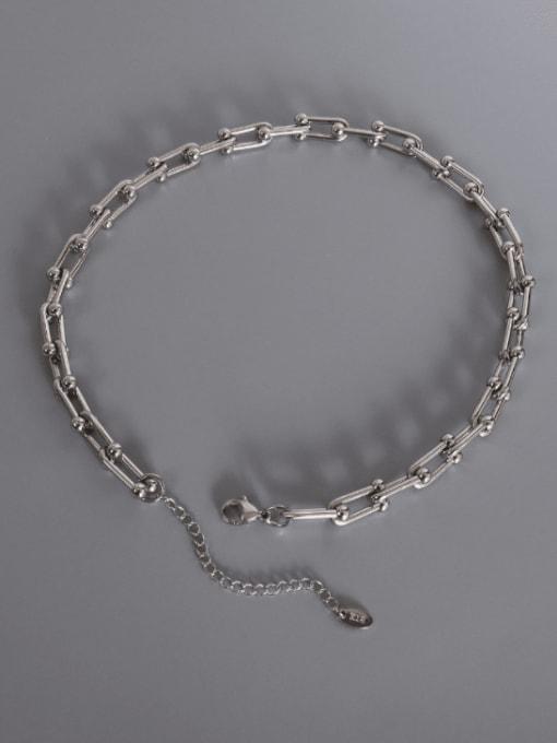 MAKA Titanium Steel Vintage Geometric  Bangle Earring and Necklace Set 2
