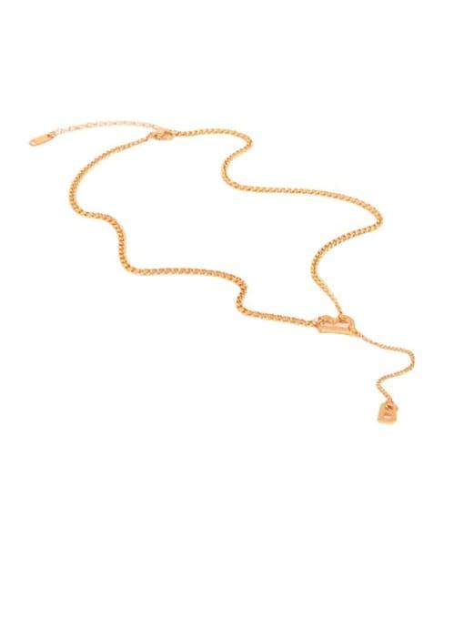 K.Love Titanium Steel Tassel Minimalist Tassel Necklace 0