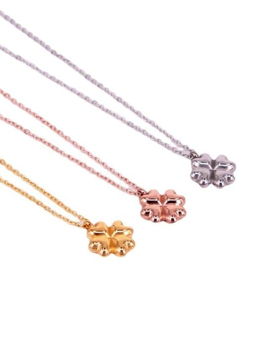 K.Love Titanium Steel Clover Minimalist Necklace 2
