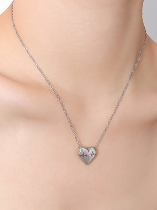 P024 Steel Necklace 40 +5cm Titanium Steel Geometric Minimalist Necklace