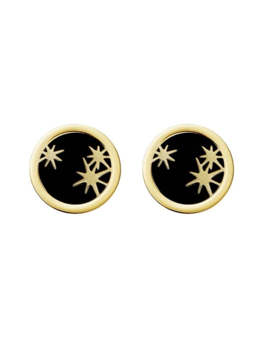 YAYACH Personalized exquisite awn star simple geometric stainless steel earrings 5