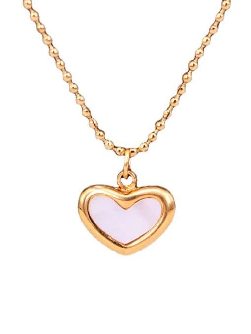 K.Love Titanium Steel Shell Heart Minimalist Necklace 2