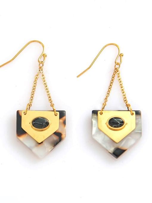 YAYACH Titanium steelgeometric simple fashion earrings 2