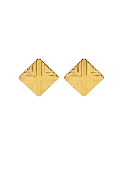 MAKA Titanium Steel Geometric Minimalist Stud Earring